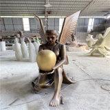 西方人物玻璃钢雕塑 欧式人物雕塑玻璃钢仿铜女神雕像