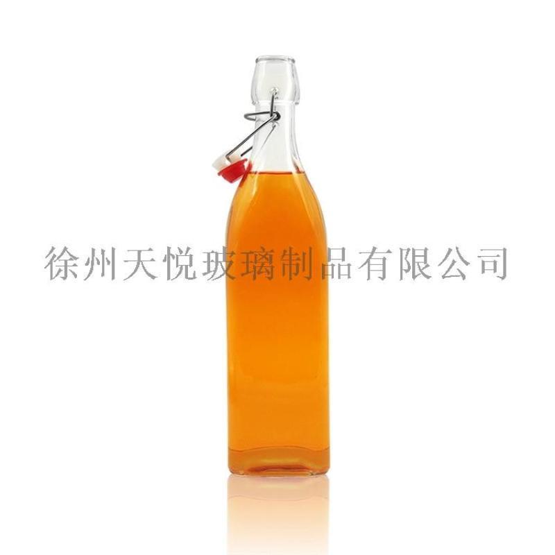 各种尺寸的秋千盖玻璃瓶,1000ml用于饮料、果汁