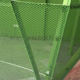 创意产业园幕墙氟碳铝单板造型拉网铝板