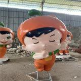 梅州玻璃鋼卡通人偶雕塑 戶外迎賓公仔雕塑擺件