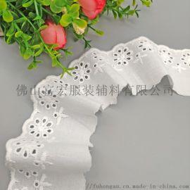 厂家现货供应棉布刺绣花边镂空花边