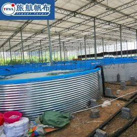 大型养殖池塑料圆形镀锌板养殖帆布养殖箱虾水池