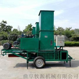 干玉米秸秆青贮秸秆打捆机玉米秸秆青储压块机