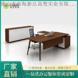 L形現代木制經理辦公家具行政辦工桌椅組合辦公桌椅