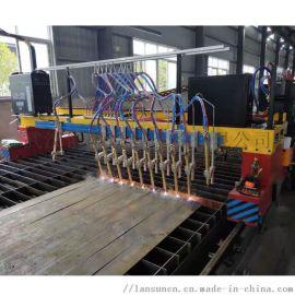 H钢构分条机,数控多头火焰直条切割机