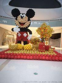 清远万达广场活动布置开业装饰气球展览