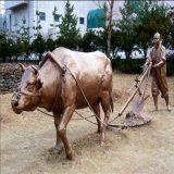 广州玻璃钢仿铜雕塑 仿铜雕塑造型户外景观绿地摆件