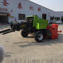 拖拉机带秸秆打捆机 畜牧养殖青储饲料方捆打捆机