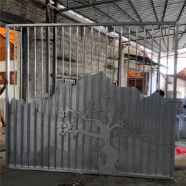 营销中心背景墙透光型材 造型波浪假山铆接铝板背景墙