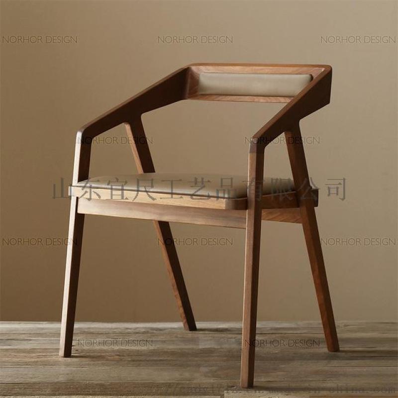 實木餐椅咖啡廳酒吧餐飲奶茶店單人椅