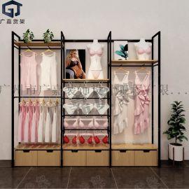 服装店展示架 服装货架 女装店货架货柜 内衣挂架