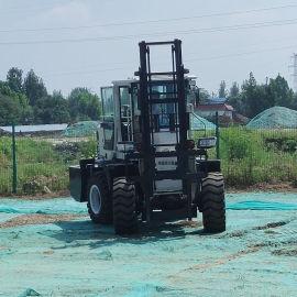 內燃式叉車越野性能強 港口集裝箱越野叉車4噸