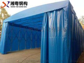 东莞生产汽车帆布电动伸缩遮阳雨棚推拉式雨棚制作