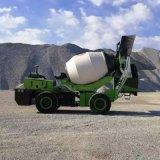 轮式自上料水泥搅拌运输车 全自动上料卸料搅拌罐车