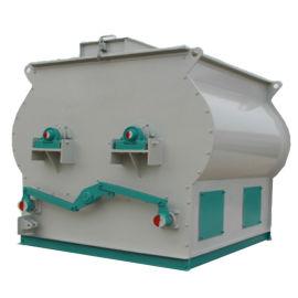 双轴拌料设备 双轴桨叶卧式混合机 饲料拌料机