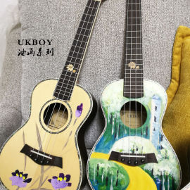 吉他提琴尤克里里面板uv打印机  乐器彩绘机