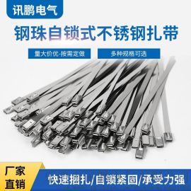 不锈钢扎带304钢带4.6*350mm打包带束线带