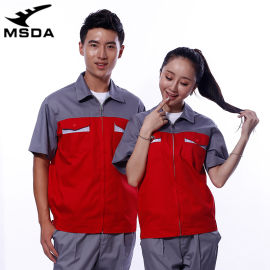 短袖工作服工程电焊汽修工厂车间工装制服劳保服装上衣