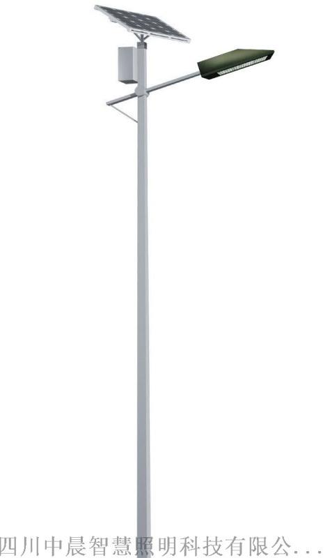 中晨太阳能路灯大功率高杆灯6米超亮户外灯