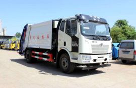 国六环卫垃圾车    解放14方压缩式垃圾车