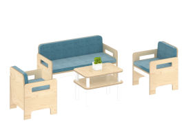 幼儿园家具,枫木,儿童角色扮演,组合沙发-绿森堡