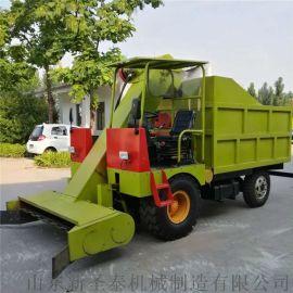 柴油机动三轮小型铲粪车,自走式清粪车