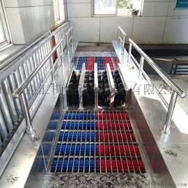 矿用无动力洗靴机 人体感应清洗设备 双通道洗靴机