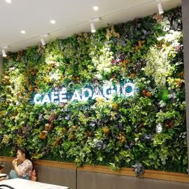 仿真绿植墙,永生青苔墙,仿真花墙