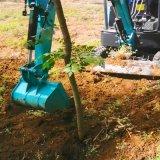 园林栽树小型挖掘机价格表 迷你挖掘机 六九重工 夹