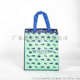 无纺布手提袋折叠购物袋定做厂家覆膜立体袋制子现货