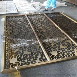 高端不锈钢屏风 拉丝黑钛不锈钢屏风隔断 装饰屏风