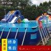 戶外支架水池充氣兒童水上樂園大型支架游泳池游泳培訓池水上滑梯