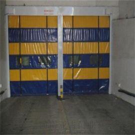 河南柔性堆积门自动升降门PVC郑州快速卷帘门