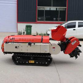 多功能履带式开沟施肥机 履带式田园管理机