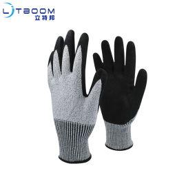 5级防切割丁腈磨砂手套