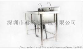 不锈钢双星洗手池 不锈钢洗手盆 拆装式酒店厨房 洗菜洗碗池