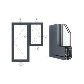 广东兴发铝材创高AL6024A|B系列门带窗