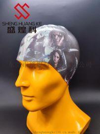 浙江定制个性图案耐拉伸不掉色硅胶泳帽 硅胶打印机