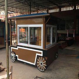 售卖车 创意英伦小车造型景观售卖车