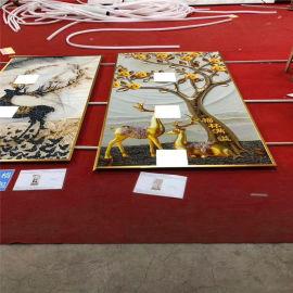 养生馆艺术UV铝单板 装饰店彩绘艺术铝单板定制