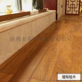 木地板缅甸柚木实木,厂家直销实木柚木地板