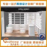 化妆品店铺展示柜形象墙免费设计制作广州厂家展示架