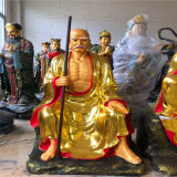 cd5021貼金十八羅漢 彩繪木雕十八羅漢佛像廠家