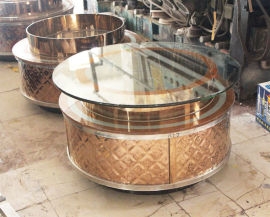 KTV茶几厂家定制圆桌 吧高台包厢新款式