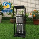 黑色烤漆石墩柱頭燈供應中式仿雲石草坪燈定製