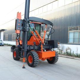 厂家直销 高速公路护栏打桩机 液压装载式护栏打桩机