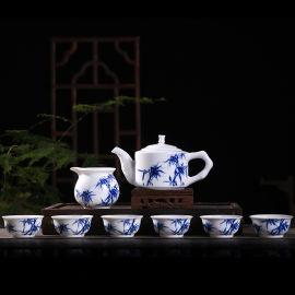景德镇**手绘陶瓷茶具茶杯功夫茶具套装商务礼品礼盒