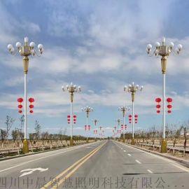 九头灯 四川中晨定制藏式文化特色路灯