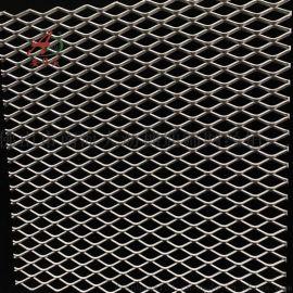 **外墙装饰菱形网 机场防护钢板网