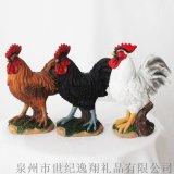 厂家直销花园装饰动物树脂工艺品摆件公鸡系列